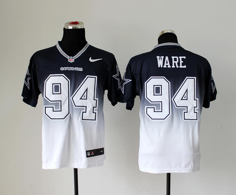 Dallas Cowboys 94 DeMarcus Ware Black White Nike Drift Fashion II Elite Jerseys