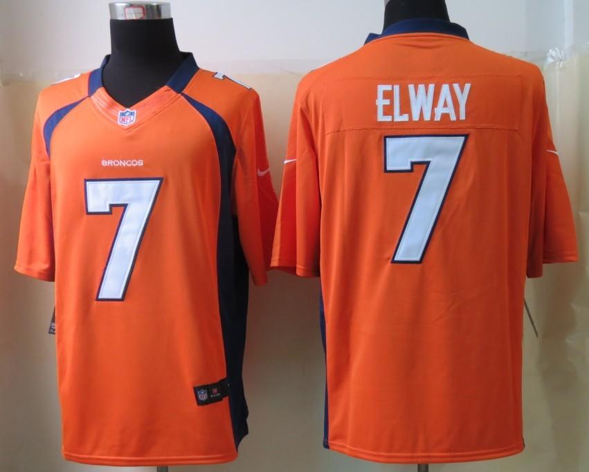 Denver Broncos 7 Elway Orange 2013 Nike Limited Jerseys
