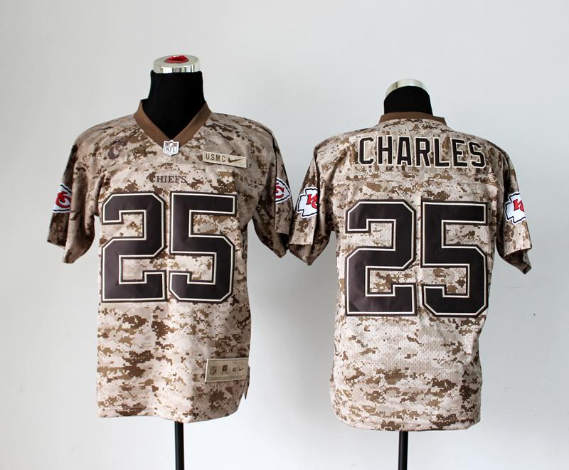 Kansas City Chiefs 25 Jamaal Charles Nike Elite Camo US.Mccuu 2013 New Jerseys