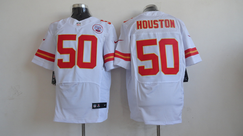 Kansas City Chiefs 50 Justin Houston 2013 Nike elite White Jersey