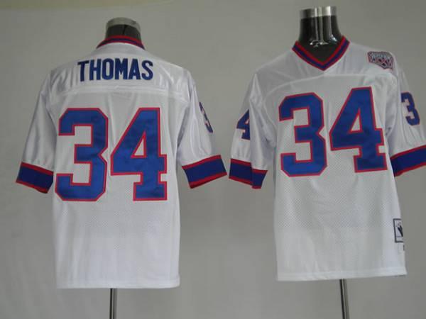 Buffalo Bills 34 THOMAS White(throwback)75and 35th NFL Jerseys