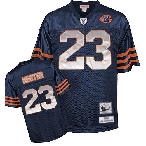 Chicago Bears 23 HESTER throwback Blue With Big Number NFL Jersey