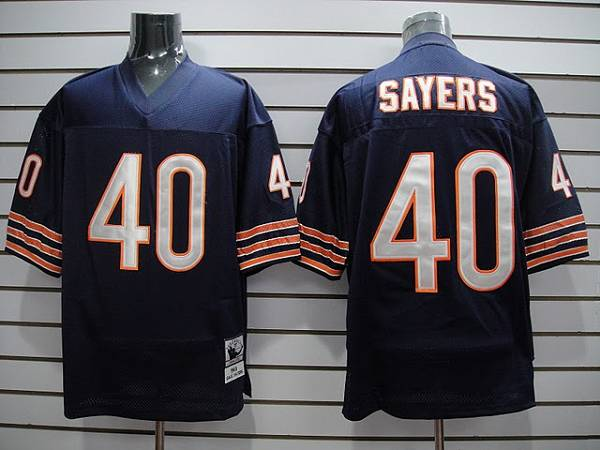 Chicago Bears 40 SAYERS throwback Blue With Small Number NFL Jersey