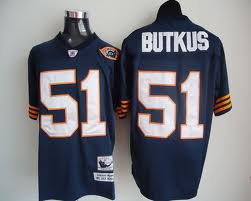 Chicago Bears 51 BUTKUS Throwback Blue NFL Jersey