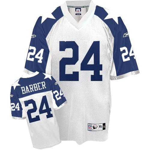 Dallas Cowboys 24 Barber White thanksgiving Throwback Mitchell And Ness NFL Jersey