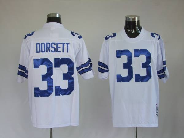 Dallas Cowboys 33 Dorsett White Throwback Mitchell And Ness NFL Jersey