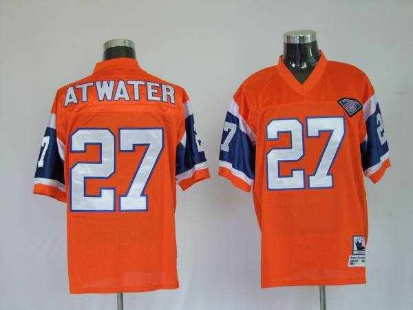 Denver Broncos 27 Steve Atwater Orange Throwback Mitchell And Ness NFL Jersey