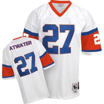 Denver Broncos 27 Steve Atwater White Throwback Mitchell And Ness NFL Jersey