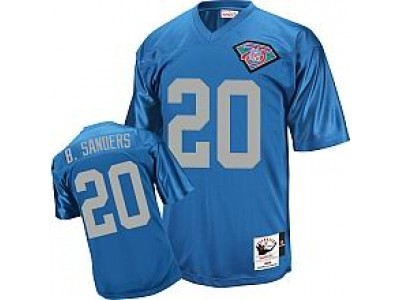 Detroit Lions 20 Barry Sanders Blue Throwback Mitchell And Ness NFL Jersey