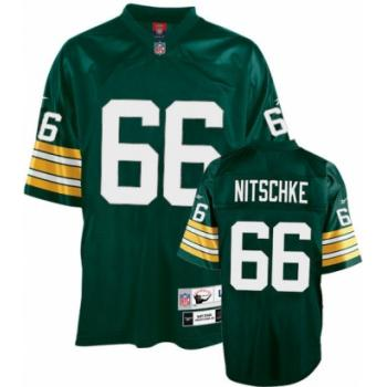 Green Bay Packers 66 Ray Nitschke Green Throwback Mitchell And Ness NFL Jersey