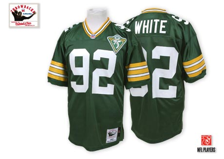 Green Bay Packers 92 Reggie White Green Throwback Mitchell And Ness NFL Jersey
