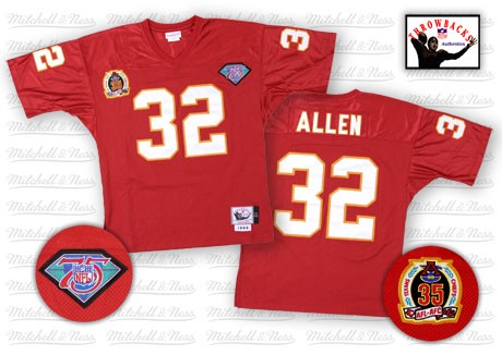 Kansas City Chiefs 32 Marcus Allen Red 75th Throwback Mitchell And Ness NFL Jersey