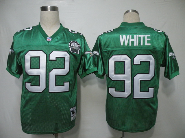 Philadelphia Eagles 92 Reggie White Green Throwback Mitchell And Ness NFL Jersey