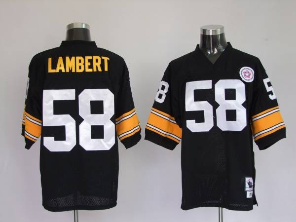 Pittsburgh Steelers 58 Jack Lambert Black Throwback Mitchell And Ness NFL Jersey