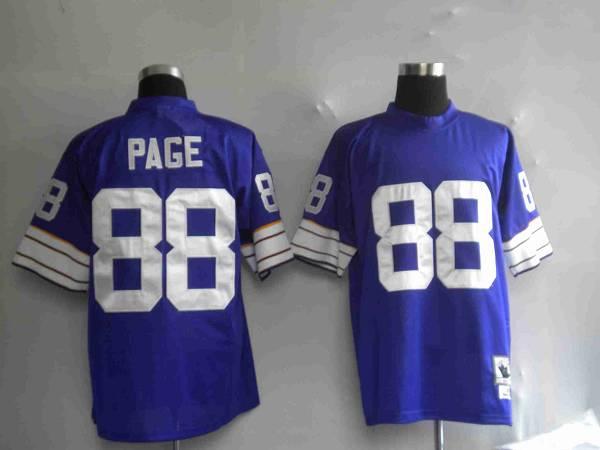 Minnesota Vikings 88 Alan Page Purple Throwback Mitchell And Ness NFL Jersey