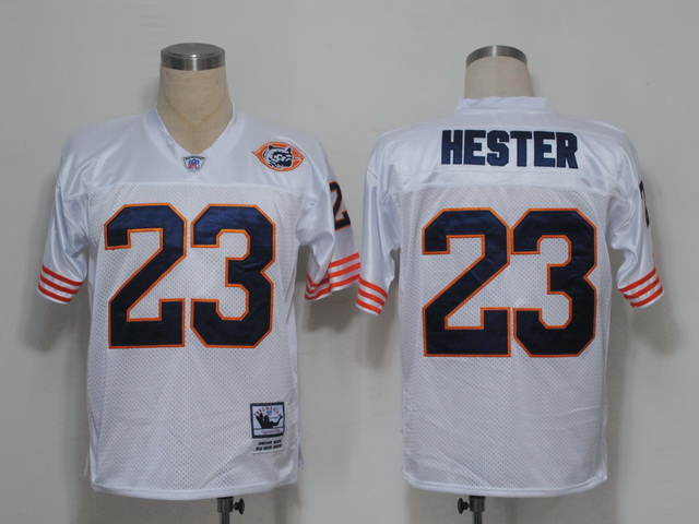 Mitchell & Ness Chicago Bears 23 Devin Hester Embroidered White Throwback NFL Jersey