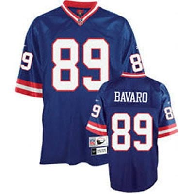 New York Giants 89 Mark Bavaro Blue Throwback Mitchell And Ness NFL Jersey