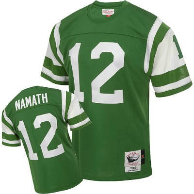 New York Jets 12 Joe Namath Green Throwback Mitchell And Ness NFL Jersey