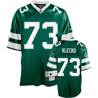 New York Jets 73 Joe Klecko Green Throwback Mitchell And Ness NFL Jersey