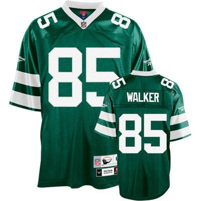 New York Jets 85 Wesley Walker Green Throwback Mitchell And Ness NFL Jersey