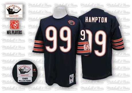 NFL Jersey Chicago Bears 99 Hampton Blue Throwback