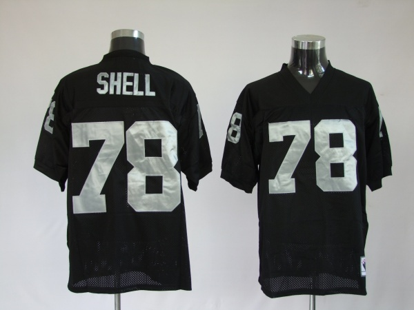 Oakland Raiders 78 Art Shell Black Throwback Mitchell And Ness NFL Jersey