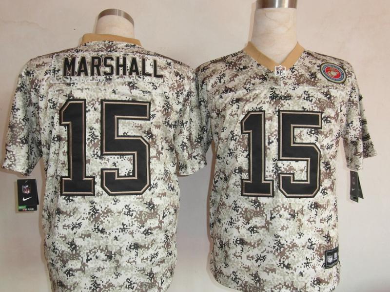 Chicago Bears 15 Marshall Nike Camo USMccuu Jerseys
