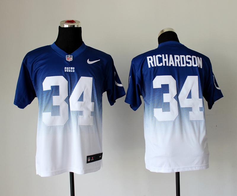 Indianapolis Colts 34 Richardson Blue White Nike Drift Fashion II Elite Jerseys