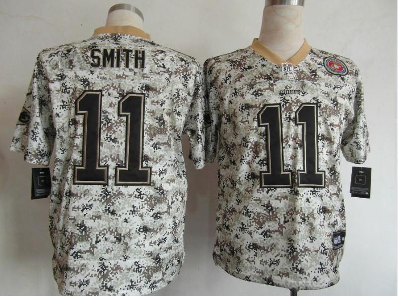 Kansas City Chiefs 11 Alex Smith Nike Camo USMccuu Jerseys