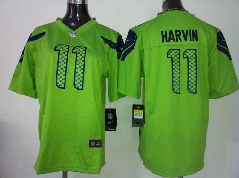 Youth Seattle Seahawks 11 Harvin Green Nike Jersey