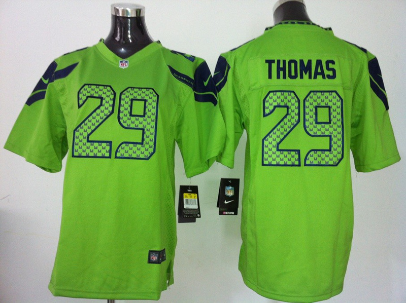 Youth Seattle Seahawks 29 Thomas Green Nike Jersey