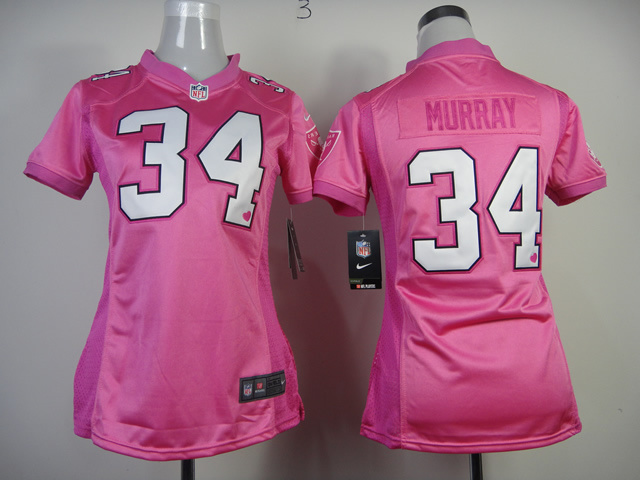 Womens Oakland Raiders 34 Murray Nike Pink Love's Jersey