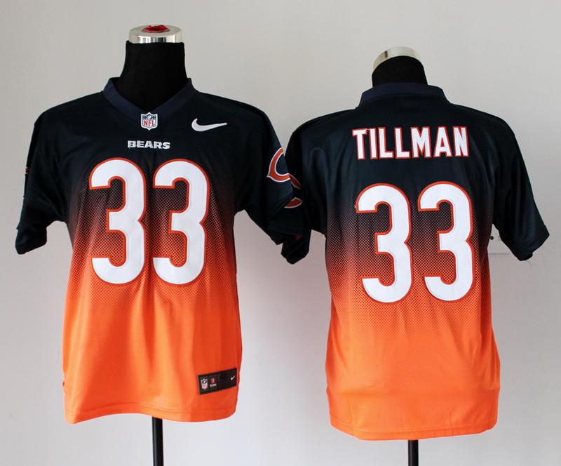 Chicago Bears 33 Charles Tillman Blue Orange Nike Drift Fashion II Elite Jerseys