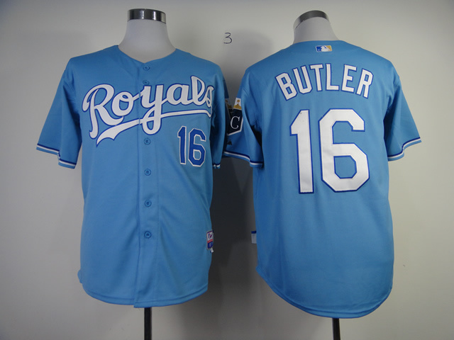 MLB Kansas City Royals 16 Billy Butler light blue Jerseys