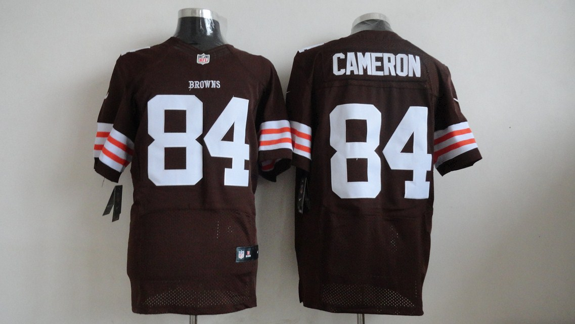 Nike NFL Cleveland Browns 84 Jordan Cameron Brown jerseys (Elite)
