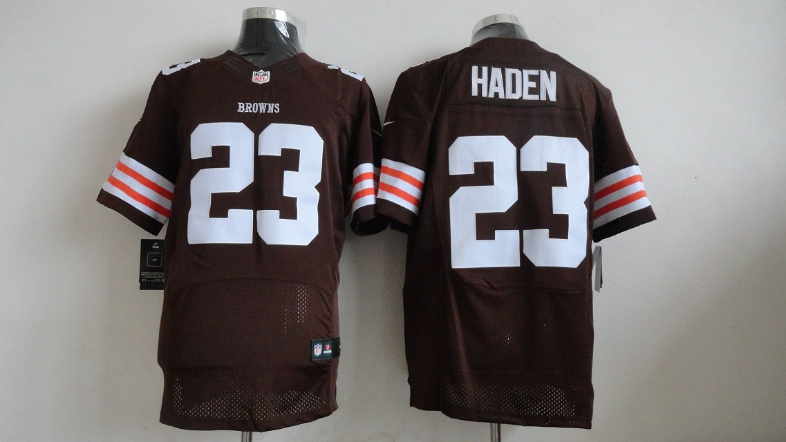 Nike NFL Cleveland Browns 23 Joe Haden elite Jersey Brown