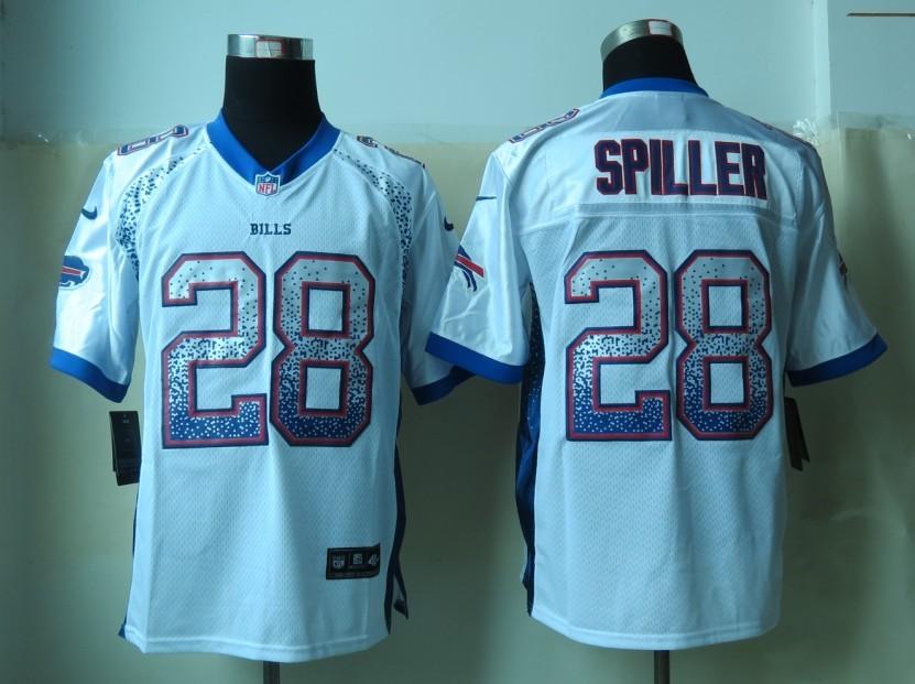 Buffalo Bills 28 Spiller Drift Fashion White 2013 New Nike Elite Jerseys