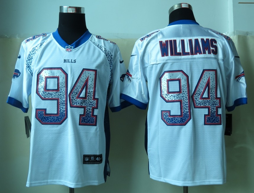 Buffalo Bills 94 Williams Drift Fashion White 2013 New Nike Elite Jerseys
