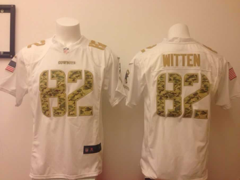 Dallas Cowboys 82 Jason Witten White With Camo Nike Number American version Jersey