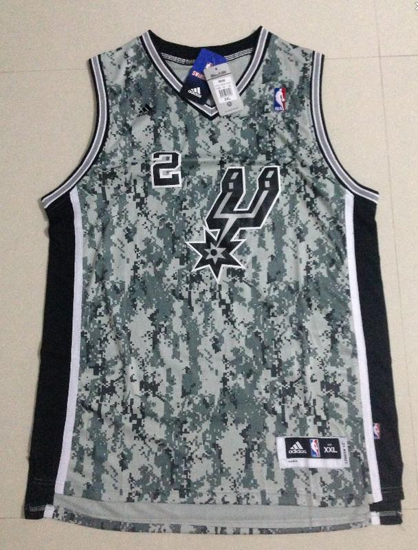 NBA San Antonio Spurs 2 Leonaro 2013 Camo USMccuu Jersey