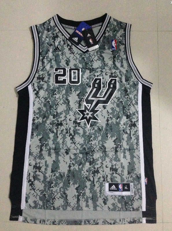 NBA San Antonio Spurs 20 Manu Ginobili 2013 Camo USMccuu Jersey