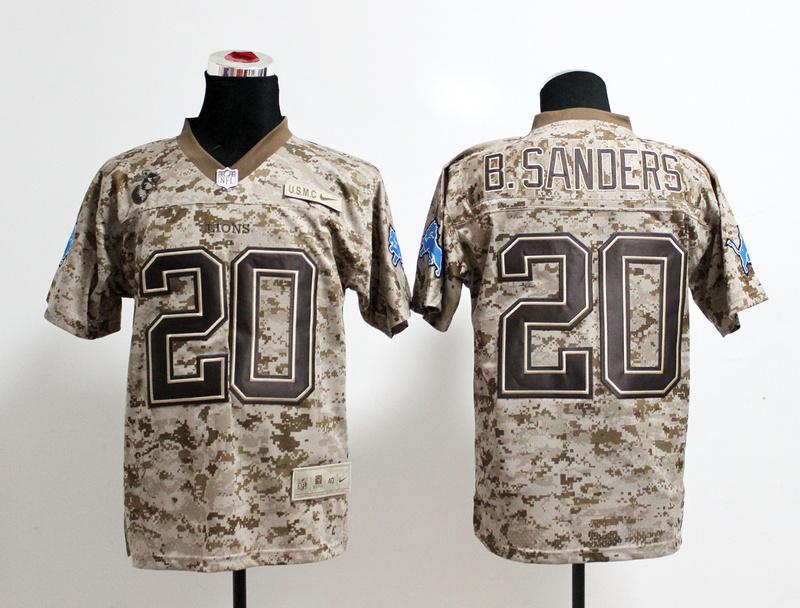 Detroit Lions 20 B.Sanders Nike Elite Camo US.Mccuu 2013 New Jerseys