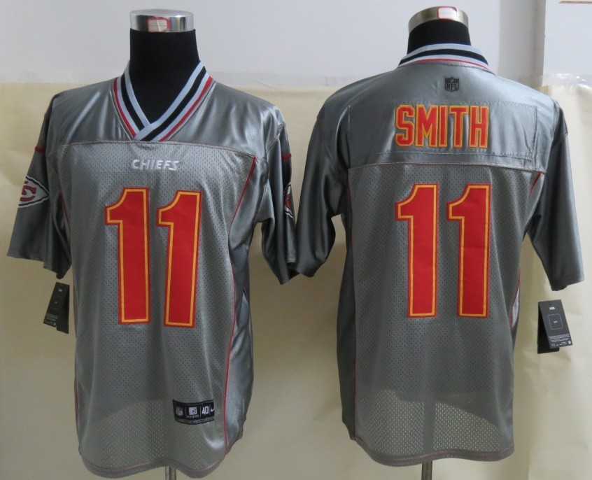 Kansas City Chiefs 11 Smith Grey Vapor 2013 NEW Nike Elite Jerseys
