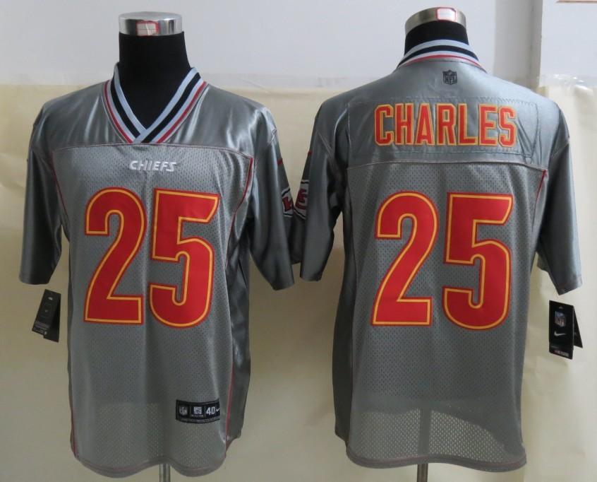 Kansas City Chiefs 25 Charles Grey Vapor 2013 NEW Nike Elite Jerseys