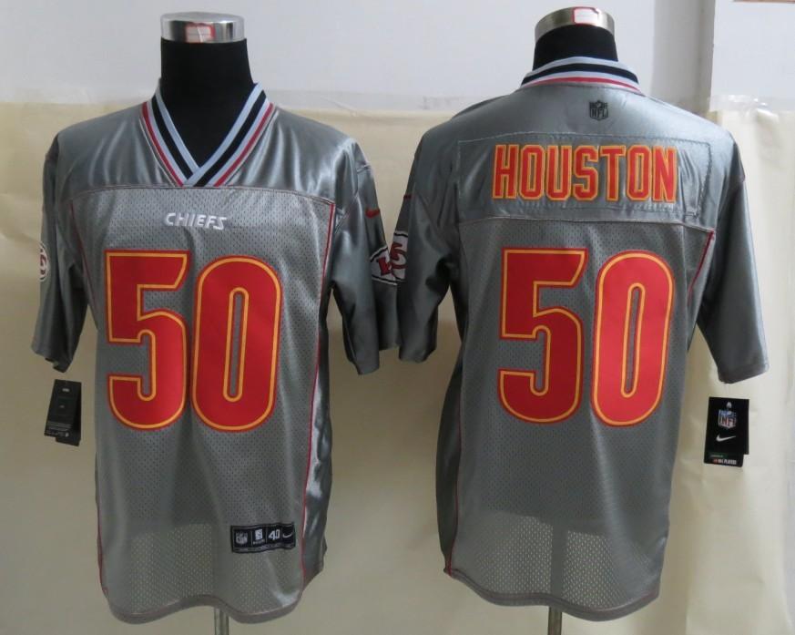 Kansas City Chiefs 50 Houston Grey Vapor 2013 NEW Nike Elite Jerseys