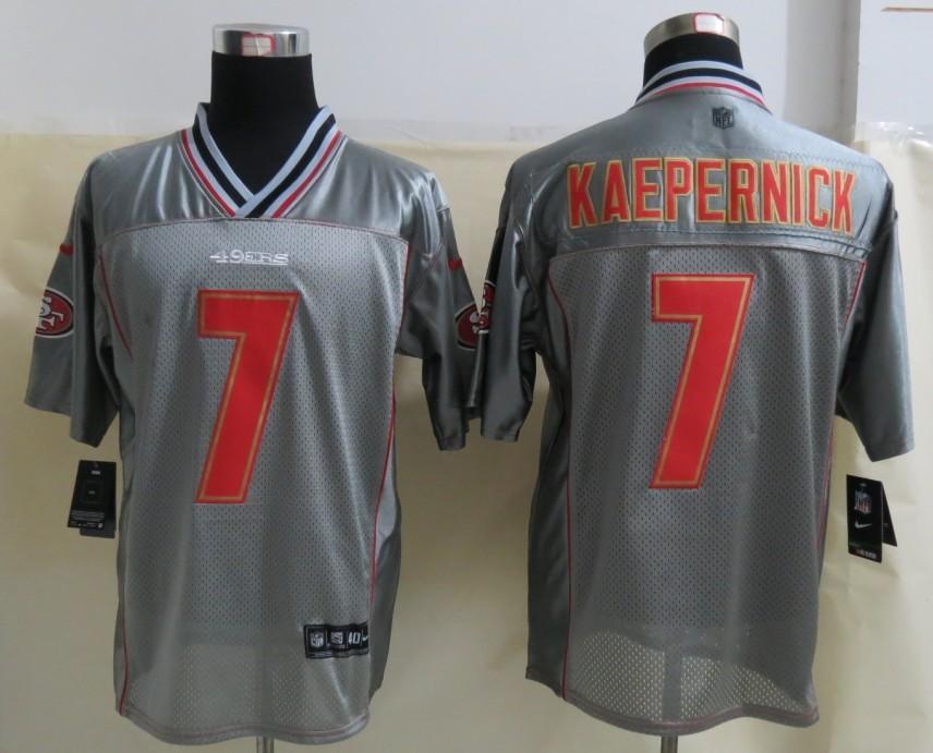 San Francisco 49ers 7 Kaepernick Grey Vapor 2013 NEW Nike Elite Jerseys