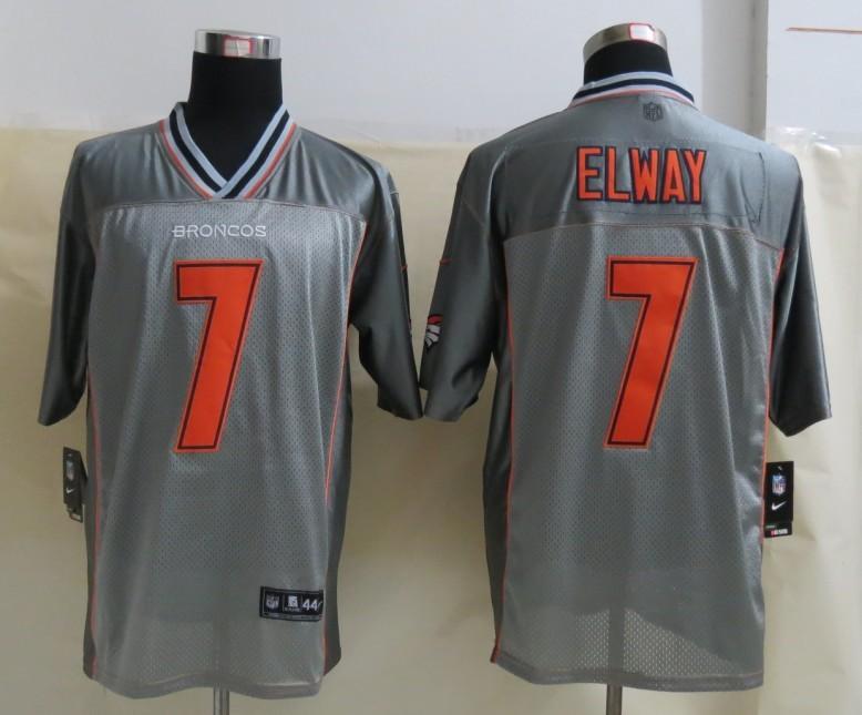 Denver Broncos 7 Elway Grey Vapor 2013 NEW Nike Elite Jerseys