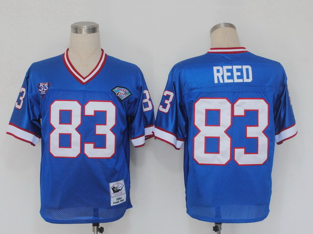 Buffalo Bills 83 Reed Blue Throwback Mitchell And Ness NFL Jersey