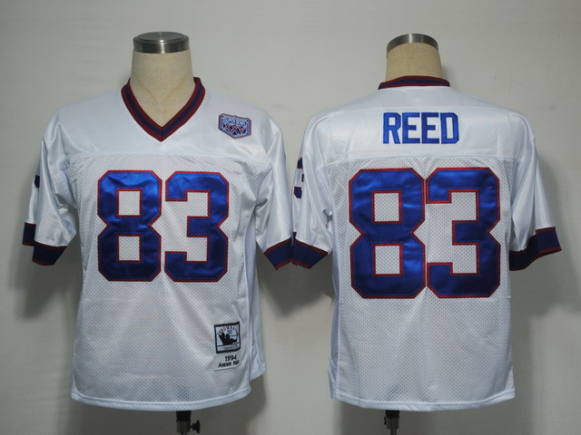 Buffalo Bills 83 Reed white Throwback Mitchell And Ness NFL Jersey