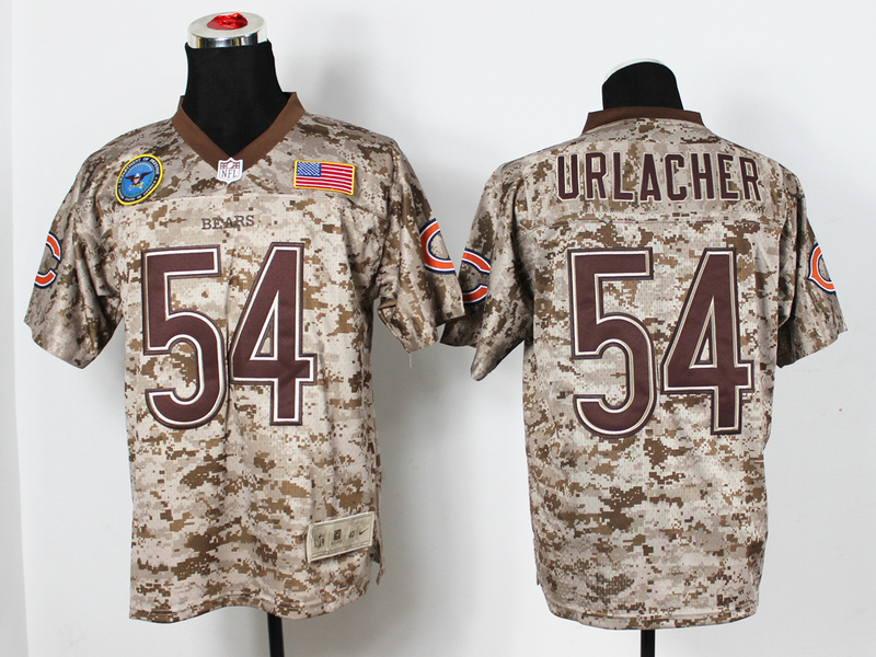 Chicago Bears 54 Urlacher Digital Camo Nike Salute to Service Elite Jersey